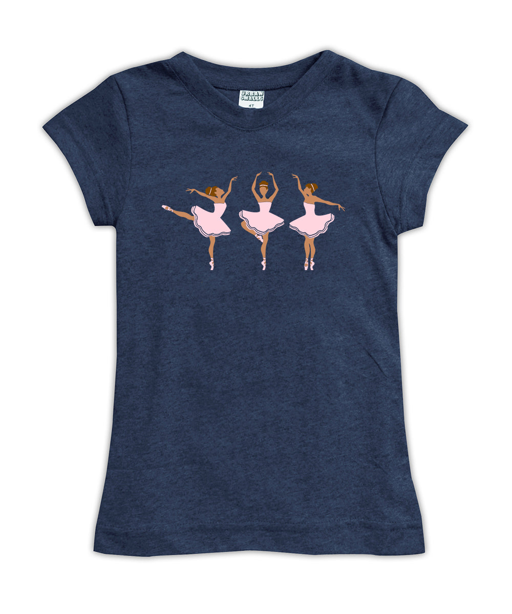 'Medium Skin Ballerinas' Fitted Tee