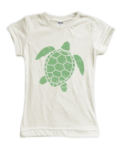 Cream Weathered Turtle Fitted Tee