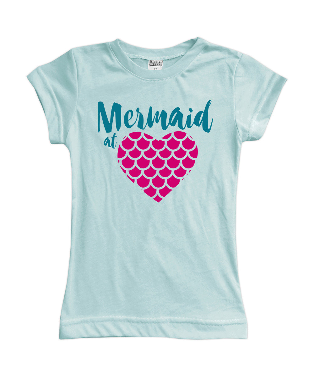 'Mermaid at Heart' Fitted Tee