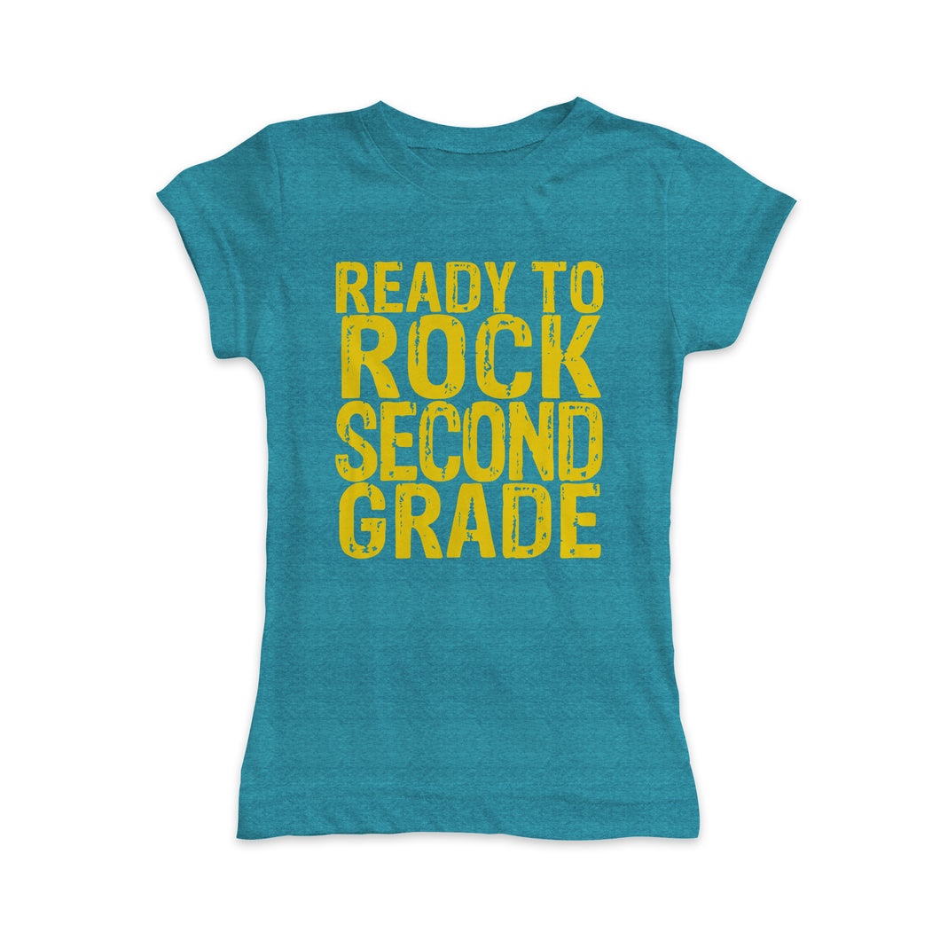 'Ready to Rock Second Grade' Fitted Tee
