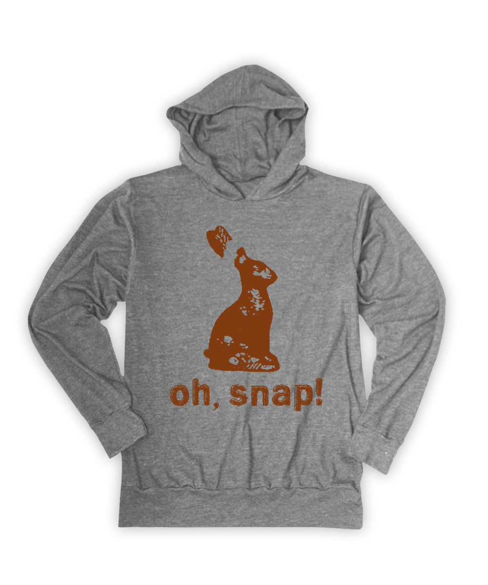 Heather Gray 'Oh, Snap!' Chocolate Bunny Lightweight Hoodie