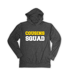 Charcoal 'Cousins Squad' Hoodie