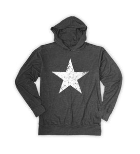 Charcoal Weathered Star Hoodie