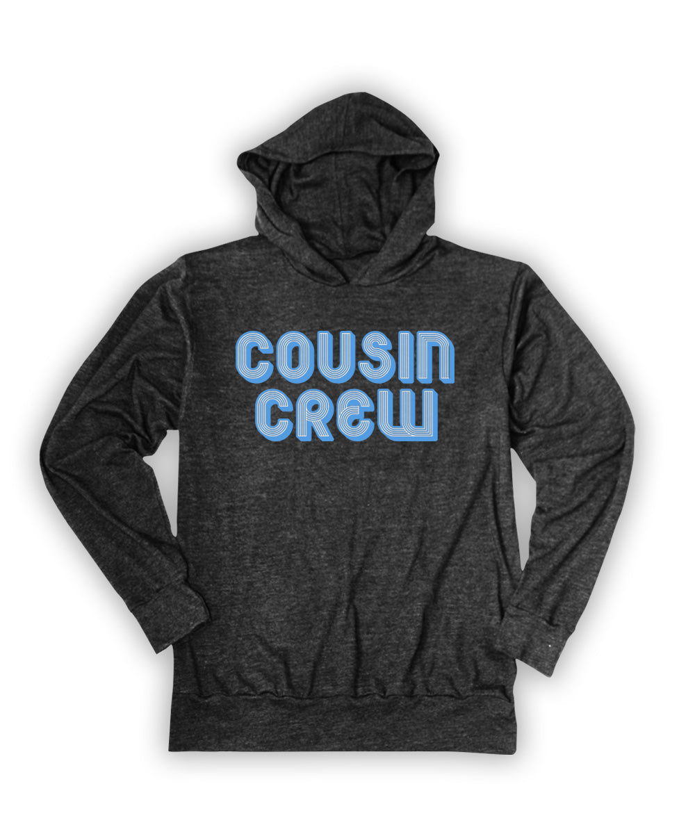 Heather Charcoal 'Cousin Crew' Lightweight Hoodie
