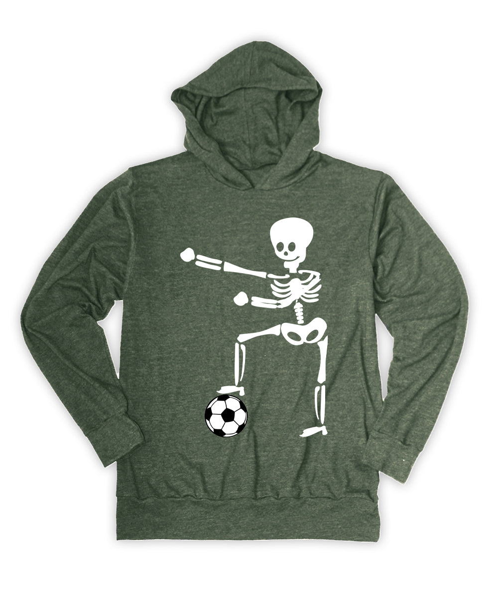 Skeleton with Soccer Ball Hoodie