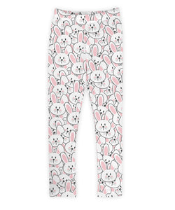 Pink and White Bunnies Leggings