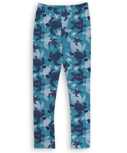 Teal & Blue Sea Turtle Leggings
