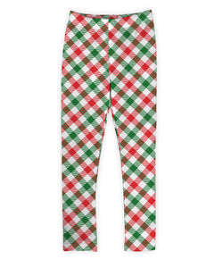 Red & Green Gingham Leggings
