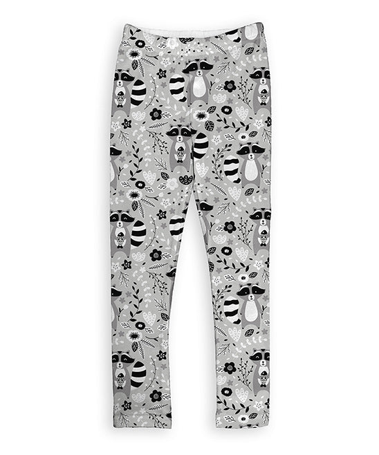 White and Black Raccoon Leggings
