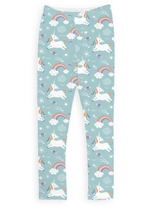 Aqua Unicorn Party Leggings
