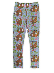 Blue Happy Sloths Leggings
