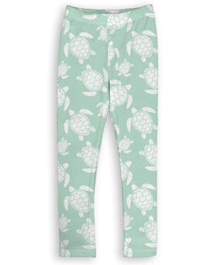 Mint Green Sea Turtle Leggings
