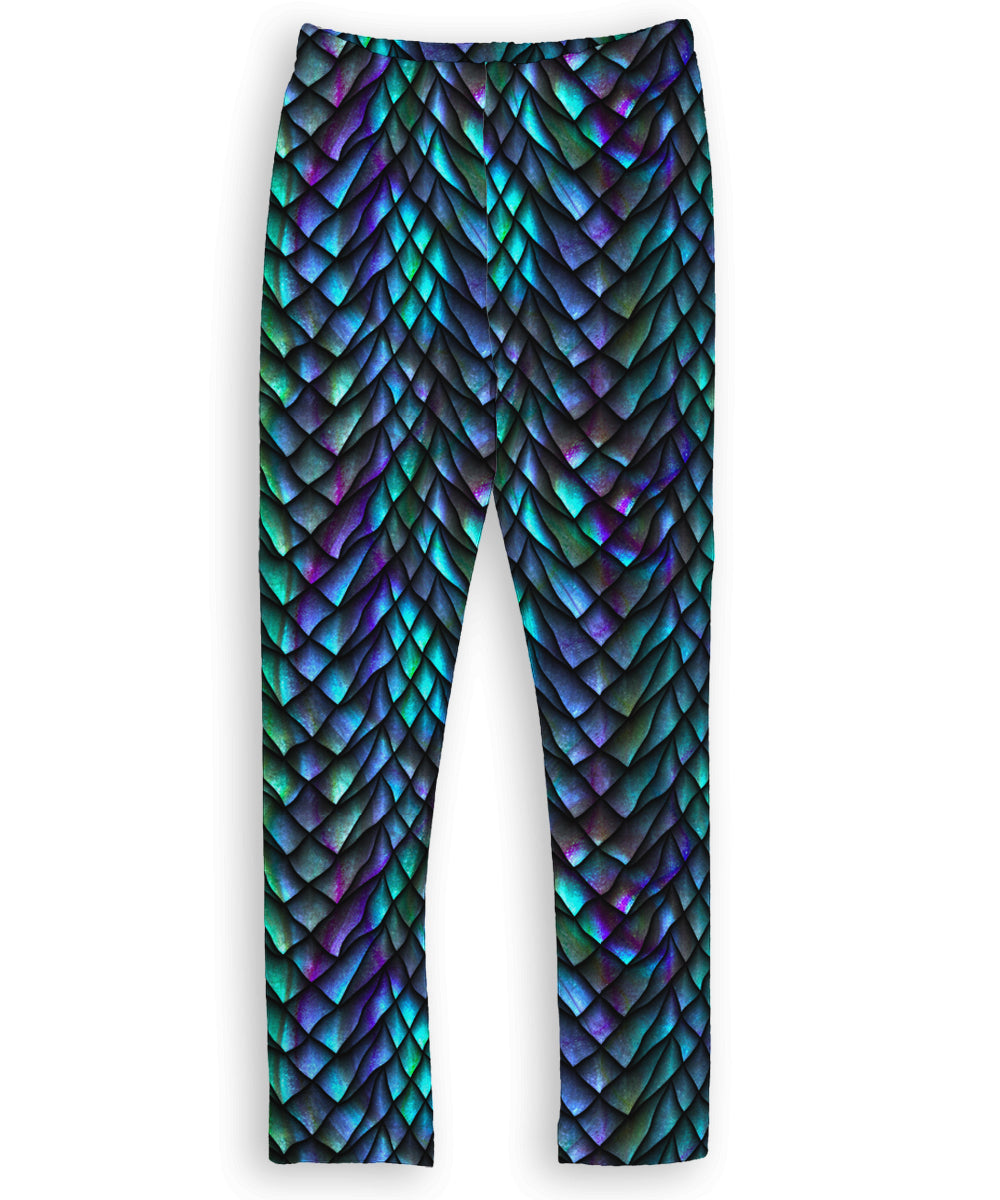 Blue & Green Dragon Scale Leggings