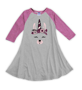 Llamicorn Raglan Dress