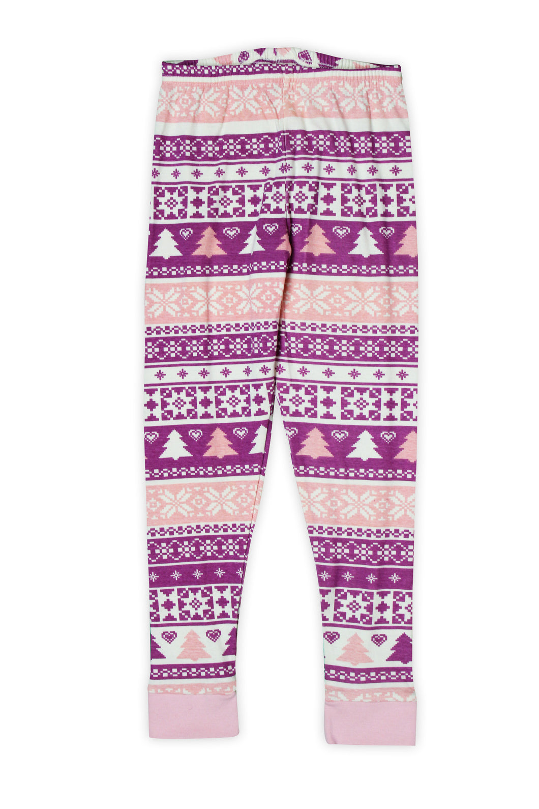 Pink & Purple Fair Isle Pajama Pants