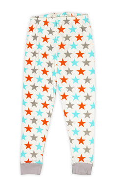 Aqua & Orange Stars Pajama Pants