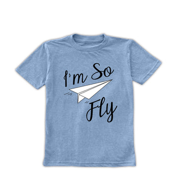 Heather Blue 'I'm So Fly' Tee