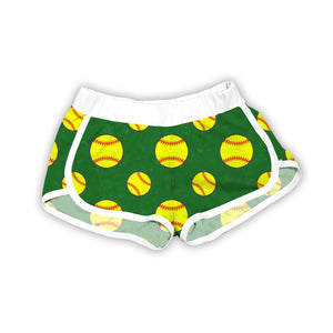 Green Softballs Shorts
