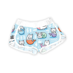 Blue & White Purrmaid Shorts