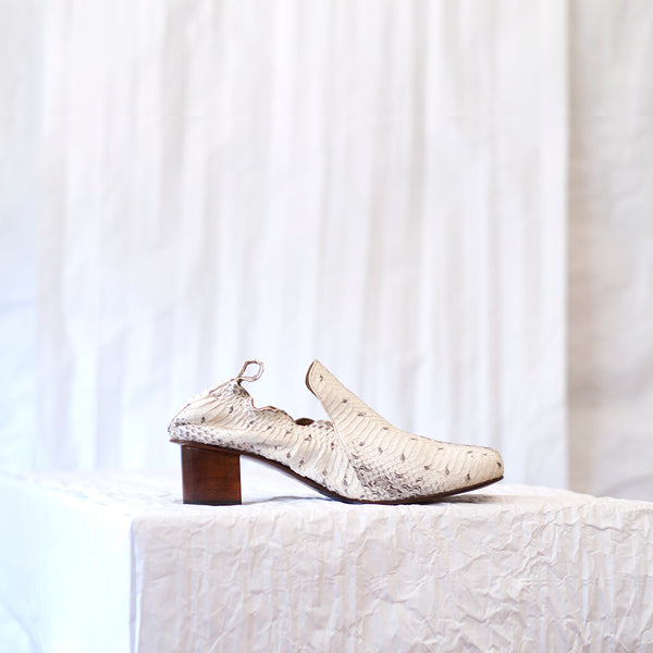 Alhambra Loafer <span>Natural Matte Snakeskin</span>