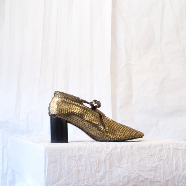 PCH Bootie <span>Gold Patina Snake</span>