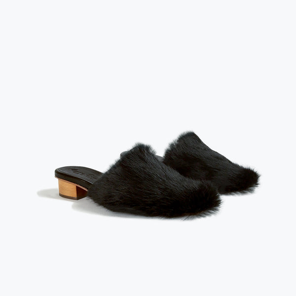 Benedict Slide<span>Black Fur</span>