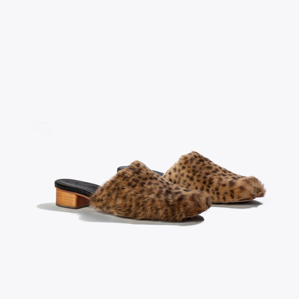 Benedict Slide<span>Cheetah Print Fur</span>