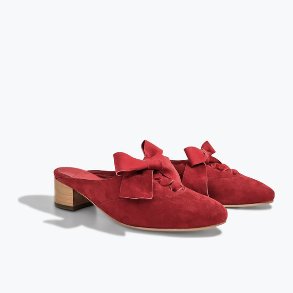 Fairfax Slide <span>Red Cactus Flower Suede</span>