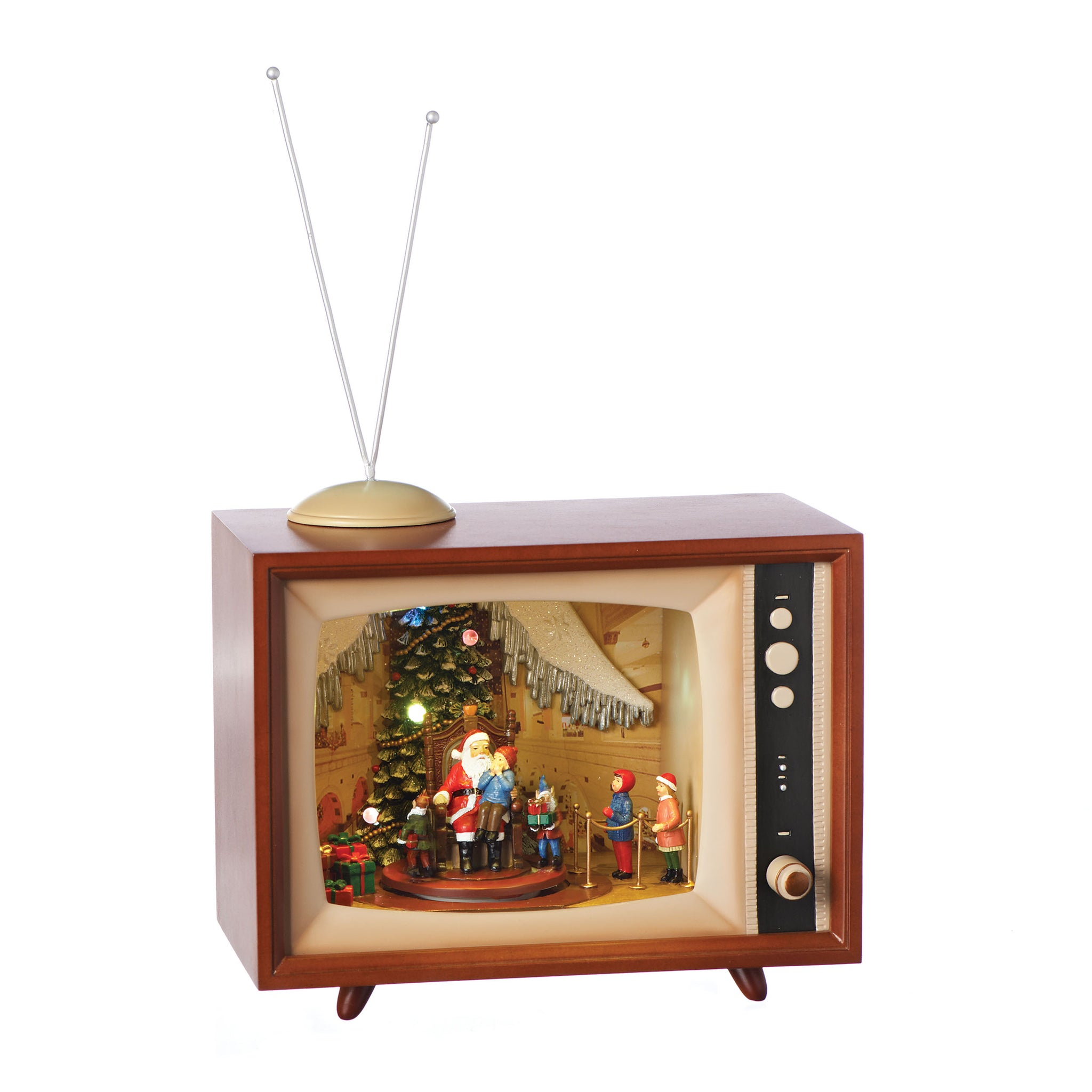 TV Sitting on Santa's Lap