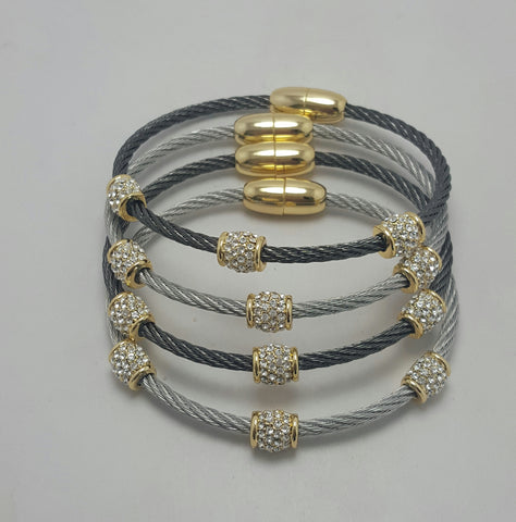 3 Bar Bracelet with Swarovski crystals