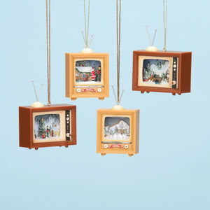 Mini TV Christmas Ornaments