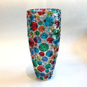 Murano Glass Lisboa Vase Multi Color