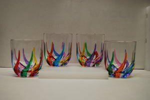 "Murano Glass ""Trix Rocks Glass"" - Sold Per Glass"
