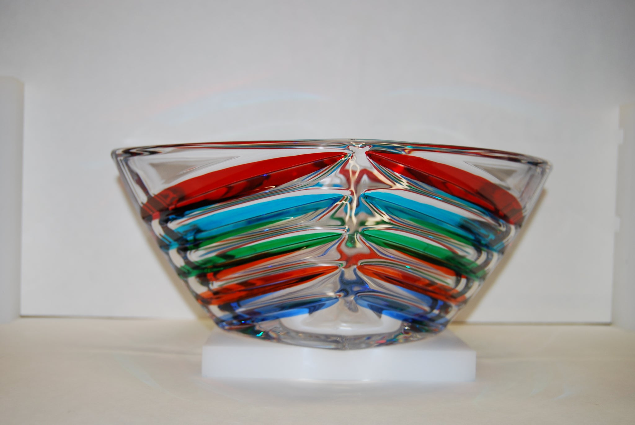 Murano Glass Facet Multi Color Bowl
