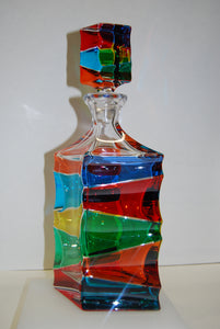 "Murano Glass ""Scaleno"" Multi Color Decanter"