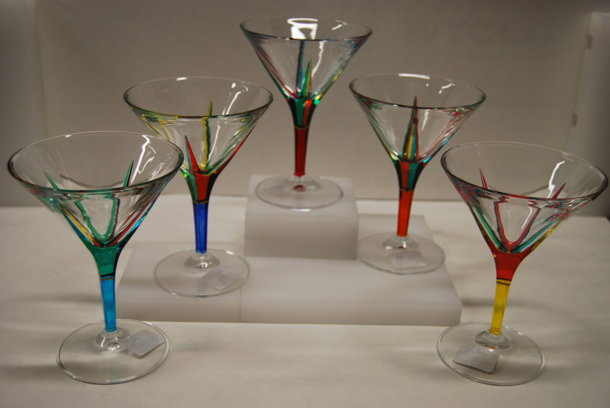 "Murano Glass ""Trix"" Martini Glass"