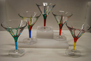 "Murano Glass ""Trix"" Martini Glass - Sold Per Glass"