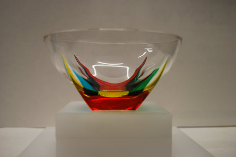 Murano Glass Trix Multi Color Bowl