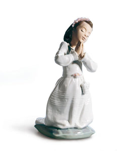 Lladro Communion Prayer Girl Figurine
