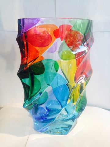 "Murano Glass ""Calypso"" Multi Color Vase"