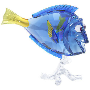 "Swarovski Crystal ""Disney's Dory"" Blue and Yellow Crystal Figurine"