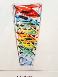 Murano Glass Facet Multi Color Vase