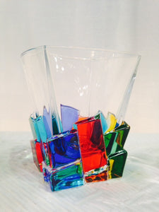 Bicehiere Whiskey Crack - Murano Glass