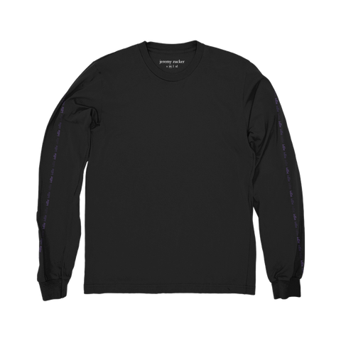idle longsleeve tee (black)