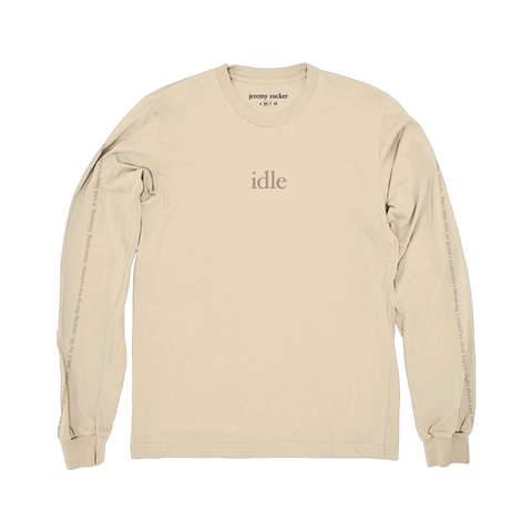 idle longsleeve tee (cream)