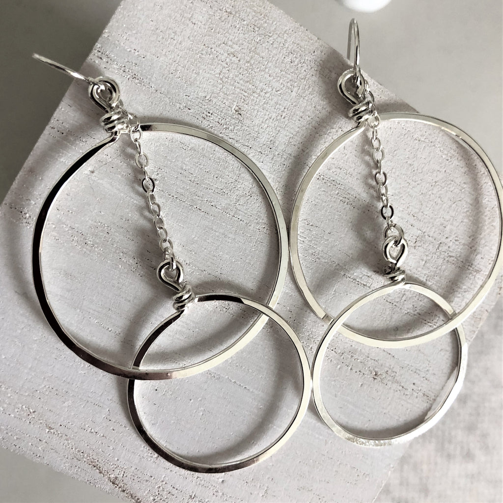 Double Circle Statement Earrings