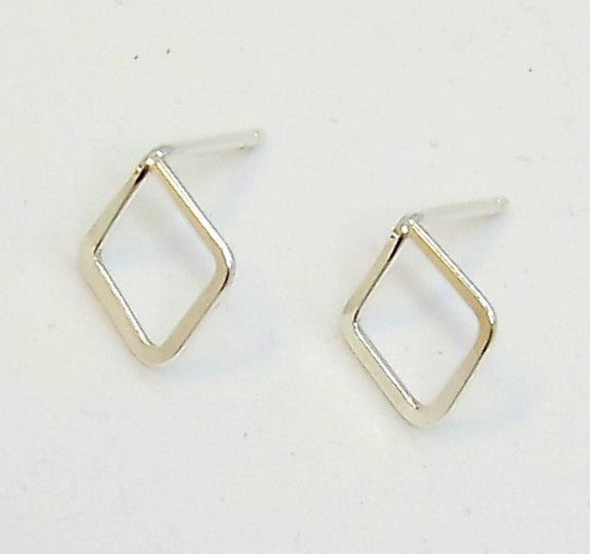 Forged Tiny Diamond Stud Earrings