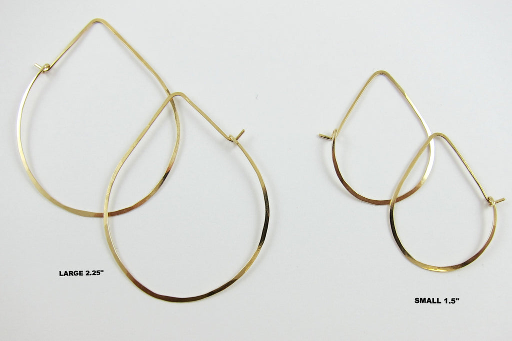 Forged Avocado Earrings Small or Large