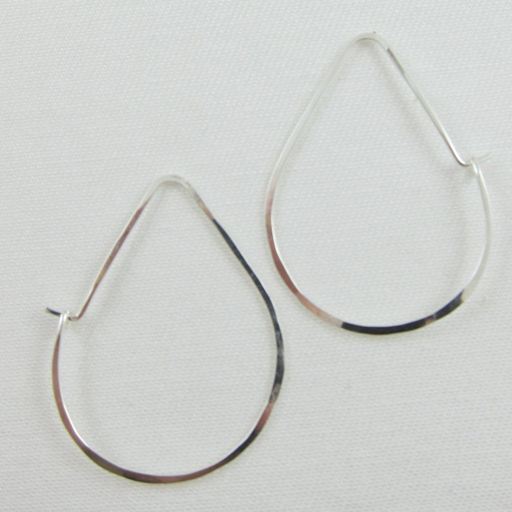 Forged Sterling Silver Avocado Earrings