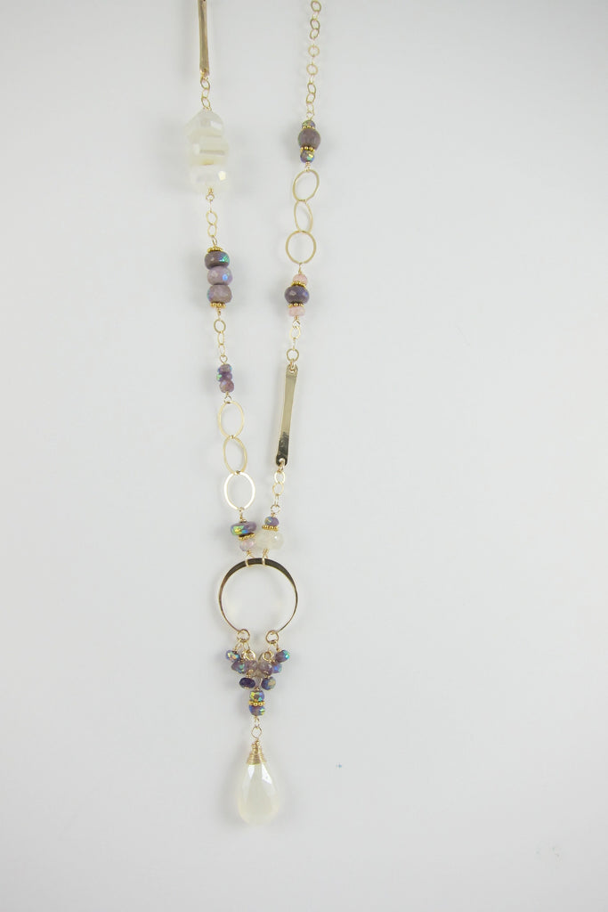 Gemstone & Sugilite Necklace